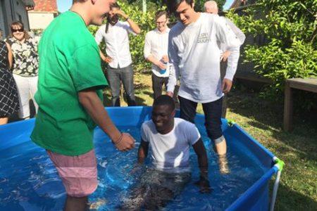 Macq Uni Master's student Ayomikun is baptised!